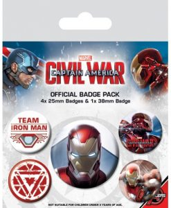 Marvel Comics - Civil War Vasember kitűzők