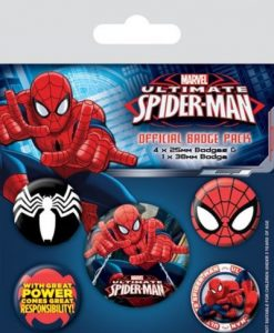 Ultimate SpiderMan Badge Pack BP80445