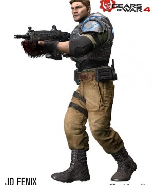 Gears of War 4 Color Tops Action Figure JD Fenix 18 cm