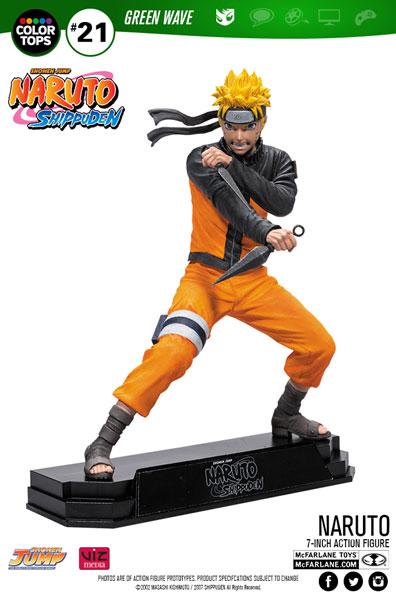 Naruto Shippuden - Naruto Uzumaki Color Tops akciófigura