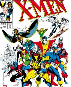 Marvel Comics Steel Covers Metal Plate Classic X-Men #1 42 x 65 cm