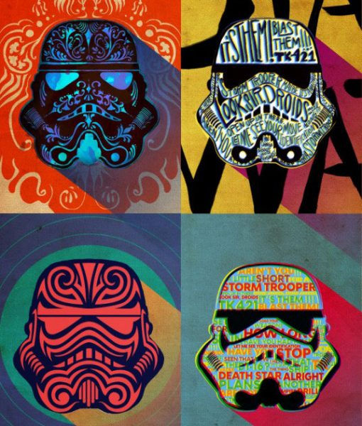 Star Wars Metal Poster Pop Art Troopers Ink Squad 32 x 45 cm