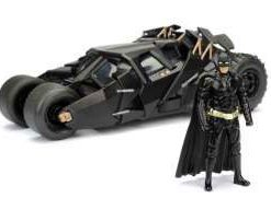 Batman The Dark Knight Diecast Model 1/24 2008 Batmobile with figure