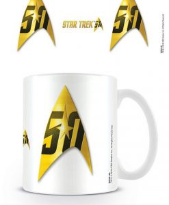 x_mg24146 Star Trek 50th Anniversary Mug Insignia