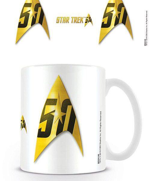 x_mg24146 Star Trek 50th Anniversary Mug Insignia