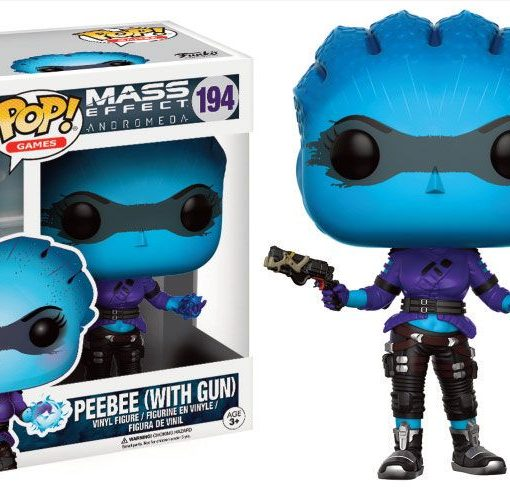 x_fk13717 Mass Effect Andromeda POP! Games Vinyl Figure Peebee (With Gun) 9 cm