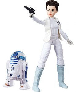 Star Wars Forces of Destiny akciófigura 2017 - Princess Leia Organa & R2-D2 (28cm)
