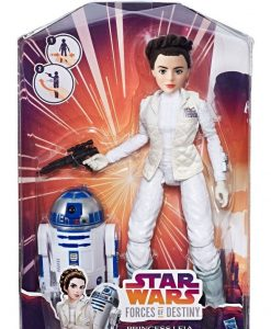 Star Wars Forces of Destiny akciófigura 2017 - Princess Leia Organa & R2-D2 (28cm)