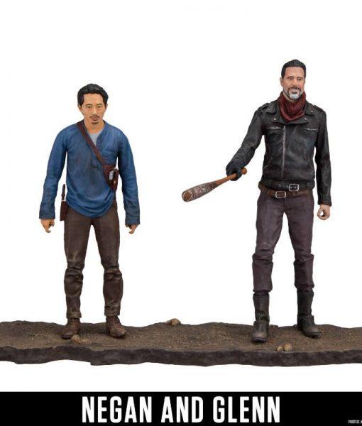 The Walking Dead Akciófigura - Negan & Glenn (13cm)