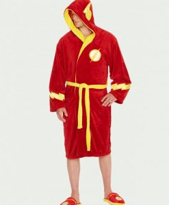 Flash_Bathrobe_Hood-Up_DC Comics köntös - The Flash