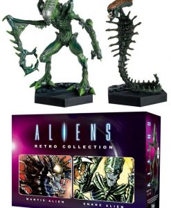 Aliens Retro Collection 2-pack figurák - Mantis Alien & Snake Alien (13cm)