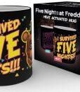Five Nights at Freddy's hőre változós bögre - I survived