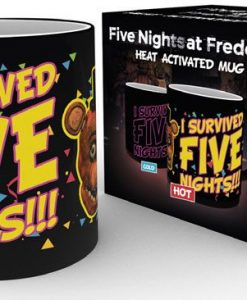 Five Nights at Freddy's hőre változós bögre - I survived