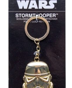 x_joy98911 Star Wars Ep. VIII fém kulcstartó - Golden Stormtrooper