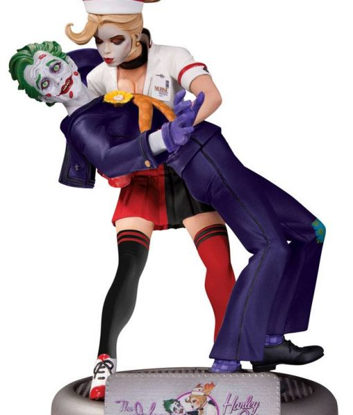 x_dccaug150309 DC Comics Bombshells Statue The Joker & Harley Quinn 2nd Edition 25 cm