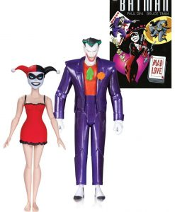 x_dccaug150311 Batman The Animated Series Action Figure 2-Pack The Joker & Harley Quinn Mad Love 2nd Ed. 15 cm