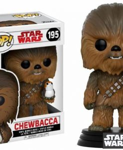 x_fk14748 Star Wars Episode VIII POP! Vinyl Bobble-Head Chewbacca & Porg 9 cm
