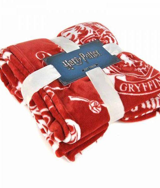 x_hmb-throhp01_a Harry Potter Fleece Blanket Gryffindor 125 x 150 cm