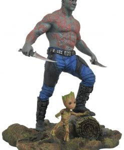 x_diammay172524 Guardians of the Galaxy Vol. 2 Marvel Gallery PVC Statue Drax & Baby Groot 25 cm