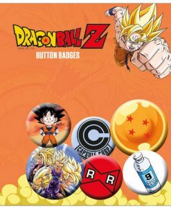 x_gye-bp0649 Dragonball Z Pin Badges 6-Pack Mix 1