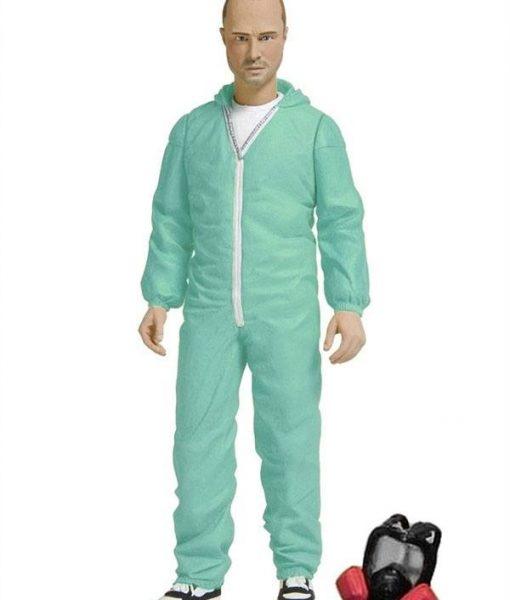 x_mez75244 Breaking Bad Action Figure Jesse Pinkman in Blue Hazmat Suit Previews Exclusive 15 cm
