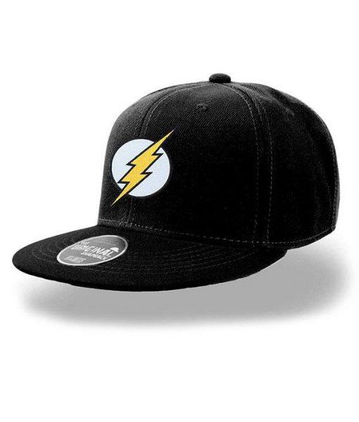 x_pe16657accos DC Comics Snap Back Cap Flash Logo