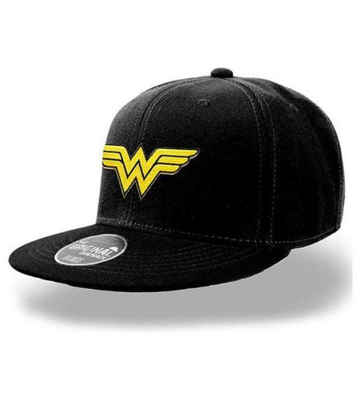 x_pe16658accos DC Comics Snap Back Cap Wonder Woman Logo