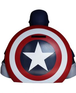x_bbsm003 Marvel Comics Coin Bank Captain America 22 cm