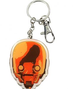 x_sdtsdt27617 Star Wars Rogue One Metal Keychain Helmet K-2SO