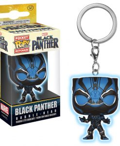 x_fk24082 Black Panther Movie Pocket POP! Vinyl Keychain Black Panther (Glow) 4 cm
