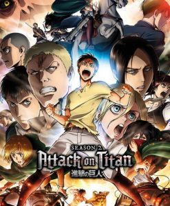 x_gye-fp4530 Attack on Titan Season 2 Poster Pack Collage Key Art