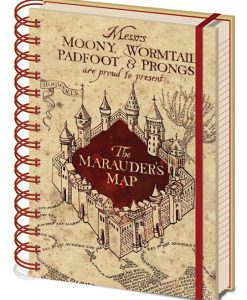 x_sr72325 Harry Potter Notebook A5 Marauders Map