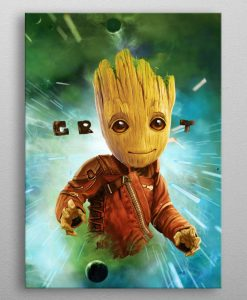 x_ppl-533600xs Marvel Metal Poster GOTG2 Baby Groot 10 x 14 cm