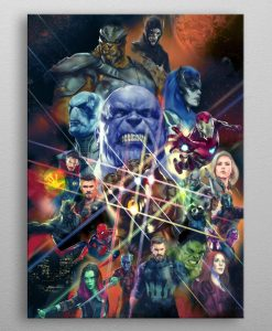 x_ppl-534054xs Marvel Metal Poster Infinity War Characters 10 x 14 cm