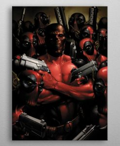 x_ppl-541188xs Marvel Metal Poster Deadpool Gritty Wrong Neighborhood 10 x 14 cm