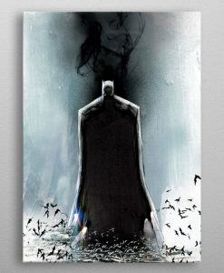 x_ppl-553388xs DC Comics Metal Poster Batman Light Absorption Black Mirror 10 x 14 cm