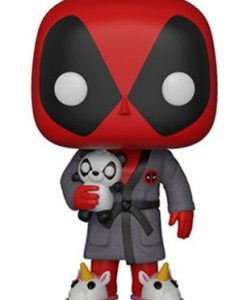 x_fk31118 Deadpool Parody POP! Marvel Vinyl Figure Deadpool in Robe 9 cm