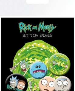 x_gye-bp0694 Rick and Morty Pin Badges 6-Pack Characters