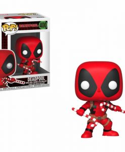 x_fk33985 Marvel Comics Funko POP! Figura - Deadpool (Candy Canes) 9 cm