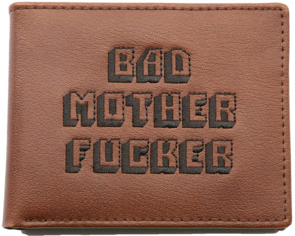 Bad Mother Fucker Wallet Brown / embroidered Logo