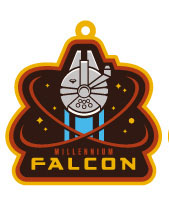 Star Wars Episode VII Rubber Keychain Millennium Falcon 6 cm