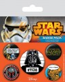 Star Wars Pin Badges 5-Pack Cult