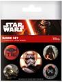 Star Wars Episode VII Ansteck-Buttons 5er-Pack First Order