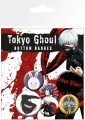 Tokyo Ghoul Pin Badges 6-Pack Mix