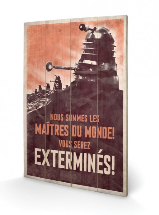 Doctor Who Wooden Wall Art Extermines 40 x 60 cm