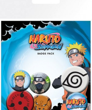 Naruto Shippuden Pin Badges 6-Pack Mix