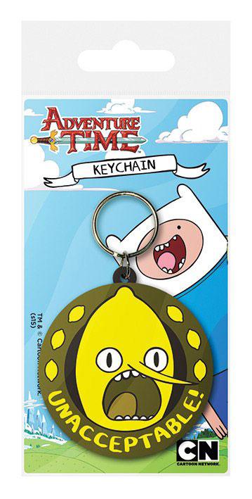 Adventure Time Rubber Keychain Lemongrab Unacceptable 6 cm