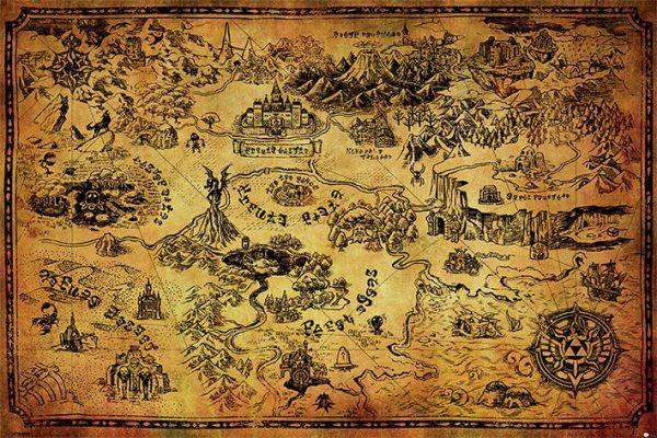 Legend of Zelda Poster Pack Hyrule Map 61 x 91 cm