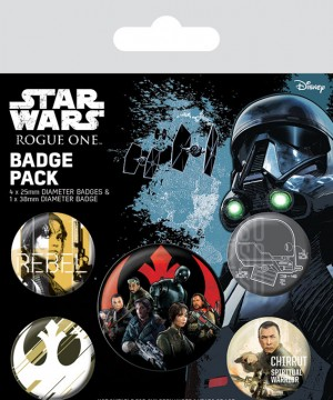 Star Wars Rogue One Pin Badges 5-Pack Rebel