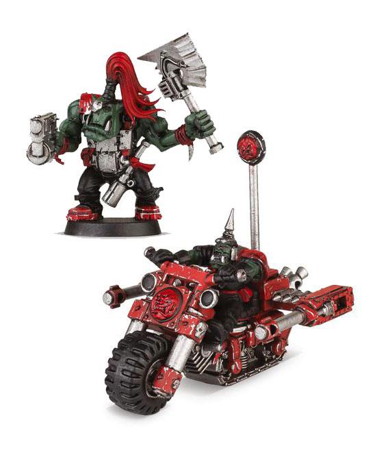 Warhammer 40k Modell szett - Space Ork Trukkboyz